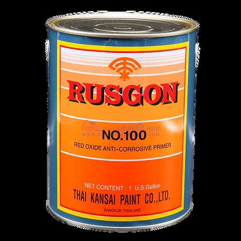 สีตราพัด รองพื้นกันสนิมแดงตราพัด Kansai Rusgon 100 ขนาด แกลลอน