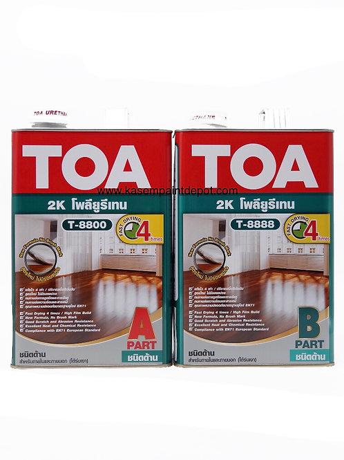 ทีโอเอ โพลียูริเทน 2 ส่วน ด้าน TOA Matt PU T8800+T8888