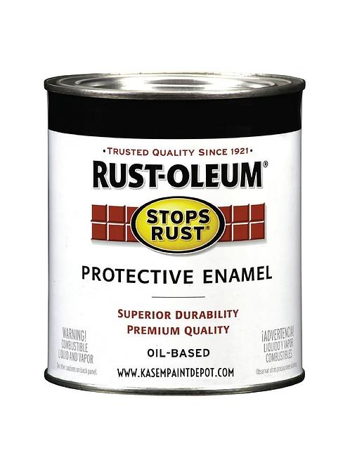 สีน้ำมันดำด้าน สำหรับงานหนักรัสโอเลี่ยม Rust Oleum Flat Black Enamel 412 แกลลอน