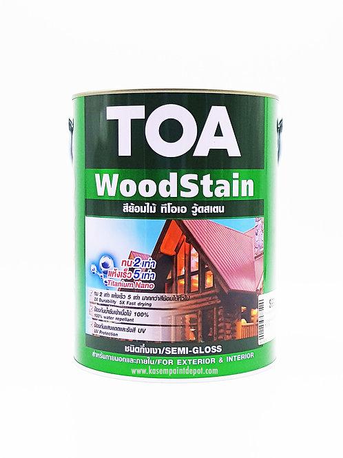 สีย้อมไม้กึ่งเงา ทีโอเอ วู้ดสเตน TOA Woodstain Semi Gloss ขนาดแกลลอน