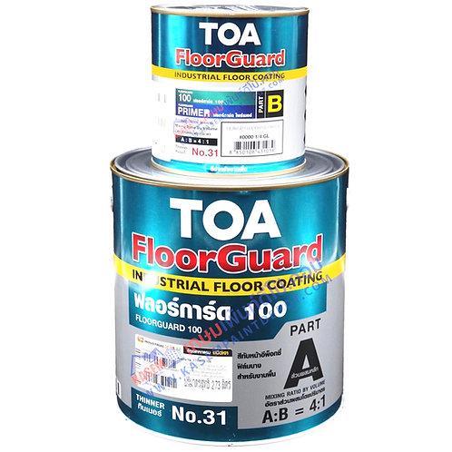 TOA Floorguard 100 A+B สีอีพ๊อกซี่ทีโอเอ สำหรับงานพื้น ฟลอการ์ด 100 แกลลอน
