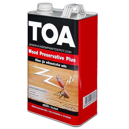 น้ำยารักษาเนื้อไม้ทีโอเอ TOA Wood Preservative Plus