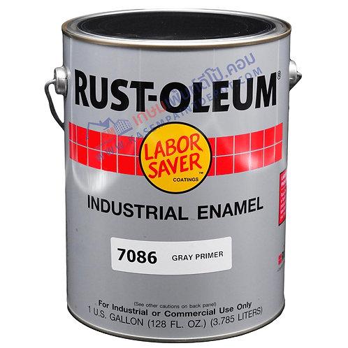 รองพื้นกันสนิมเทาแห้งเร็ว รัสท์โอเลี่ยม Rust Oleum QD Grey Primer 7086 แกลลอน