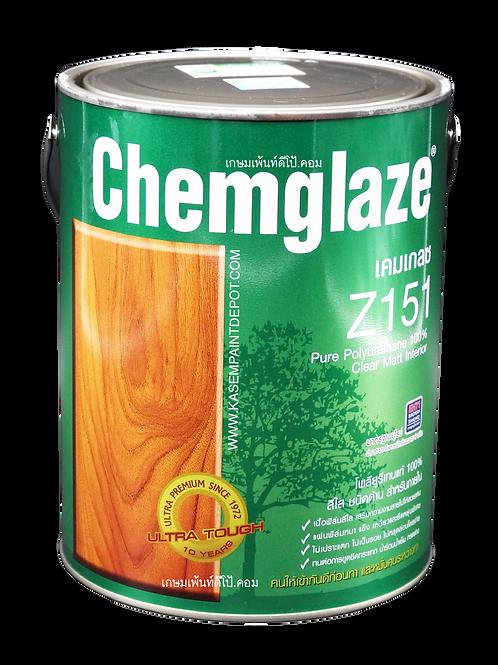 Chemglaze Z151 โพลียูริเทนเคมเกลซ ทาไม้ ภายใน ชนิดด้าน ขนาดแกลลอน 3.785 ลิตร