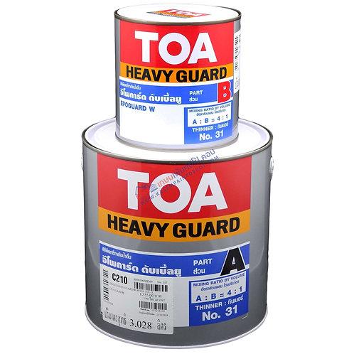 สีอีพ็อกซี่ทาถังน้ำดื่ม TOA Epoguard W C210 ทีโอเอ อีโพการ์ด W ขนาดแกลลอน