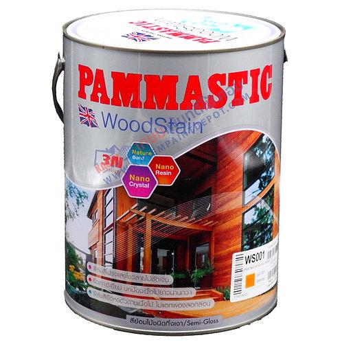 สีย้อมไม้ปามมาสติก ชนิดกึ่งเงา Pammastic Woodstain ขนาดแกลลอน 3.785 ลิตร