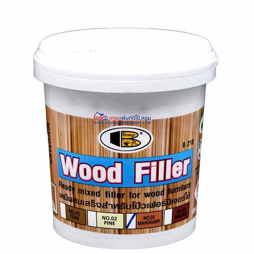 สีโป๊วไม้ บอสนี่ วู้ดฟิลเลอร์ Bosny Wood Filler No.03  สีมะฮอกกานี ขนาด 500g