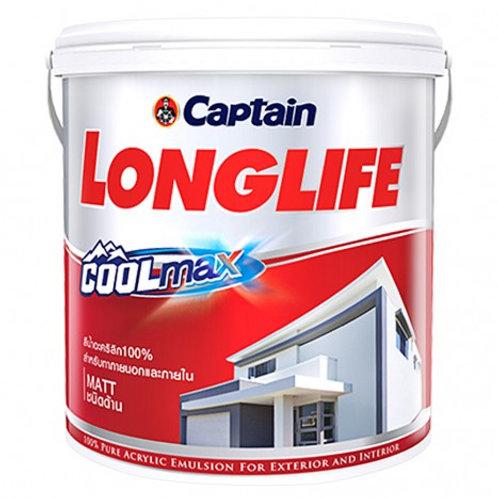 สีน้ำกัปตัน ลองไลฟ์  คูลแม็กซ์ นอก ด้าน Captain Longlife Cool Max Base A แกลลอน