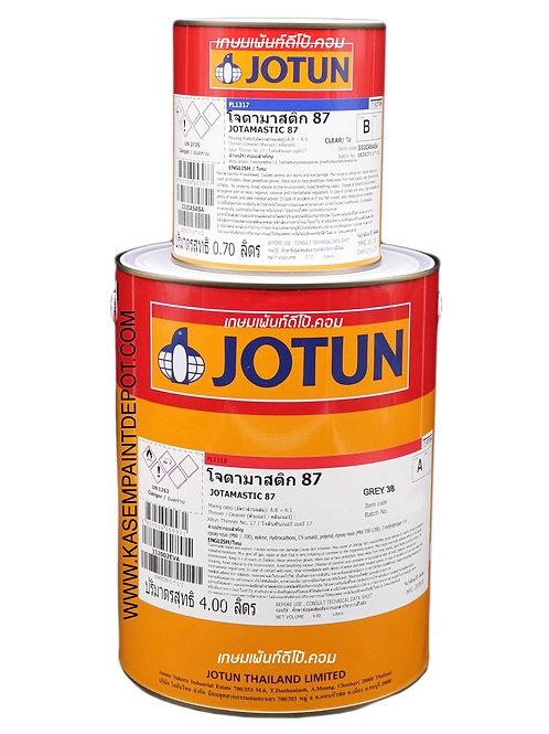 รองพื้นอีพ๊อกซี่โจตัน โจตามาสติก 87 สีเทา Jotamastic 87 Grey 38 ขนาดแกลลอน