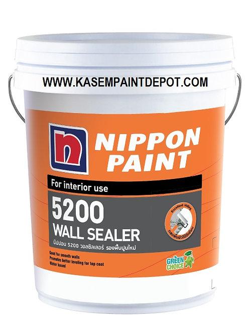 รองพื้นปูนใหม่ ภายใน นิปปอน 5200 Nippon 5200 Wall Sealer สีขาว ถังใหญ่