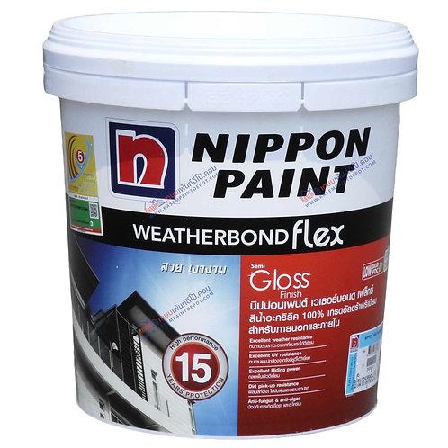 สีนิปปอน เวเธอร์บอนด์ Nippon Weatherbond Flex ภายนอก ชนิดกึ่งเงา