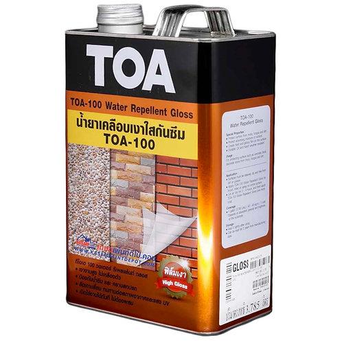 น้ำยาเคลือบเงากันซึม ทีโอเอ 100 TOA100 Water Repellent ขนาดแกลลอน 3.785 ลิตร