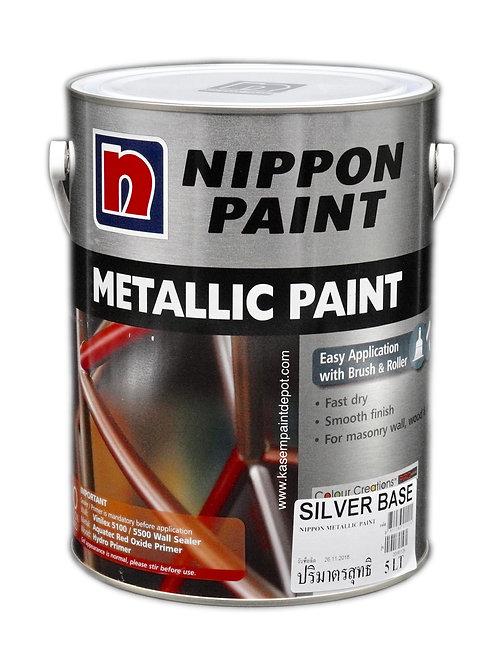สีน้ำมันเมทัลลิค นิปปอนเมทัลลิคเพ้นท์ Nippon Metallic Paint ขนาดแกลลอน 5 ลิตร