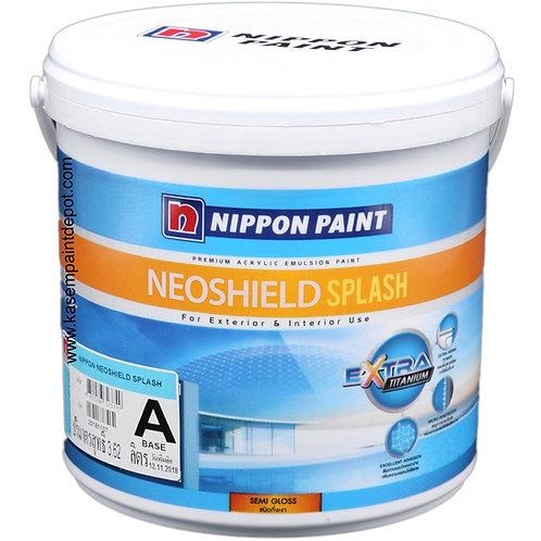 สีนิปปอนนีโอชิลด์สแปลช นอก กึ่งเงา เบส A Nippon Neoshield Splash ขนาดกล3.785ลิตร