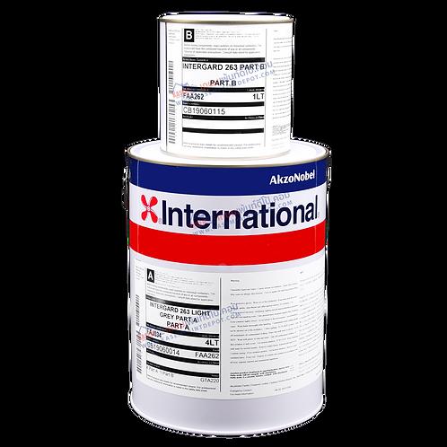 สีรองพื้นอีพ๊อกซี่ อินเตอร์เนชั่นแนล เทา International Intergard 263 A+B 5 ลิตร