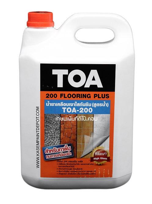 น้ำยาเคลือบเงาใสกันซึมสูตรน้ำ ทีโอเอ 200 TOA200 Flooring Plus