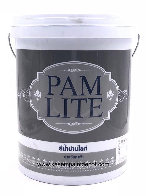 สีทาฝ้าปามมาสติก ปามไลท์ สีขาว Pammastic Pamlite White AM888 ถัง 18.925 ลิตร