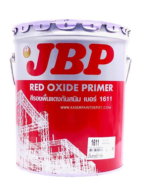 รองพื้นกันสนิมแดง เจบีพี 1611 JBP Red Oxide Primer 1611 ถังใหญ่ 18.925ลิตร