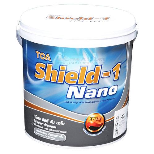 สีน้ำทาฝ้า ทีโอเอ ชิลด์วัน TOA Shield-1 ชนิดด้าน ขนาด 1 แกลลอน 3.785 Litres