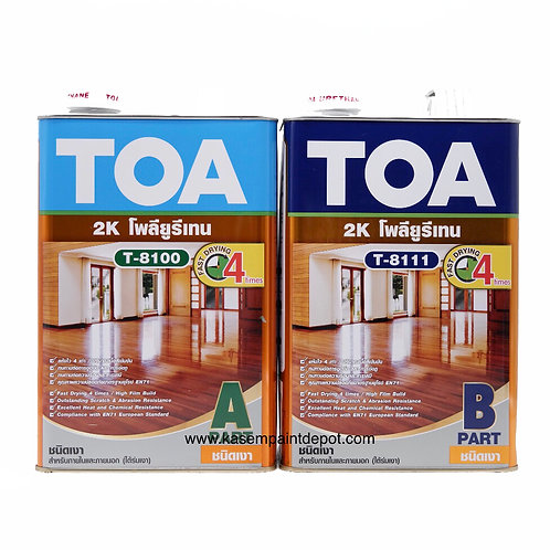 ทีโอเอ โพลียูริเทน 2 ส่วน เงา TOA Gloss PU T-8100+T-8111