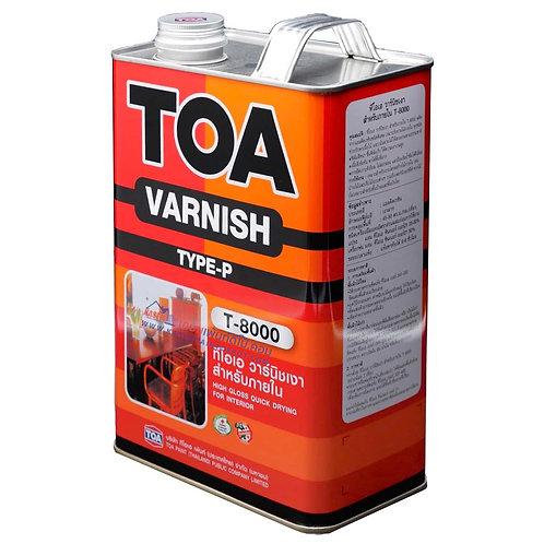 วานิชเงาทีโอเอ  ภายใน T8000 TOA Varnish T-8000 ขนาดแกลลอน 3.785 ลิตร