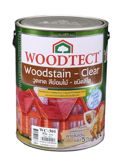 สีย้อมไม้วู้ดเทค สีใส ชนิดเงา Woodtec WC301ขนาดแกลลอน 3.785 ลิตร