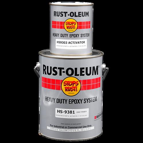 Rust-Oleum 9381 Grey Epoxy Primer รองพื้นอีพ็อกซี่เทา รัสโอเลี่ยม 9381 แกลลอนชุด