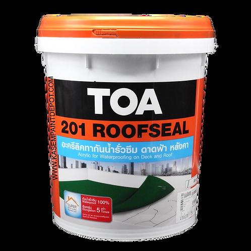 TOA 201 Roof Seal ทีโอเอ รูฟซีล 201 ทาดาดฟ้ากันรั่วซึม ถังใหญ่ 20 กก.