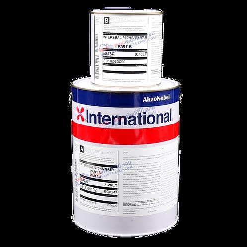 รองพื้นอีพีอกซี่ อินเตอร์เนชั่นแนล สีเทา International Interseal 670HS Grey กล.