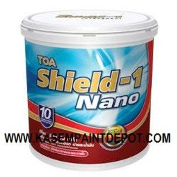 สีน้ำทีโอเอ ชิลด์วัน ชนิดเนียน TOA Shield-1 Sheen ขนาดถัง 9.46 ลิตร
