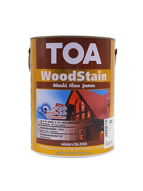 สีย้อมไม้เงา ทีโอเอ วู้ดสเตน TOA Woodstain Gloss ขนาดแกลลอน