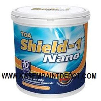 สีน้ำทีโอเอ ชิลด์วัน ชนิดกึ่งเงา TOA Shield-1 Semi Gloss ขนาดถัง 9.46 ลิตร