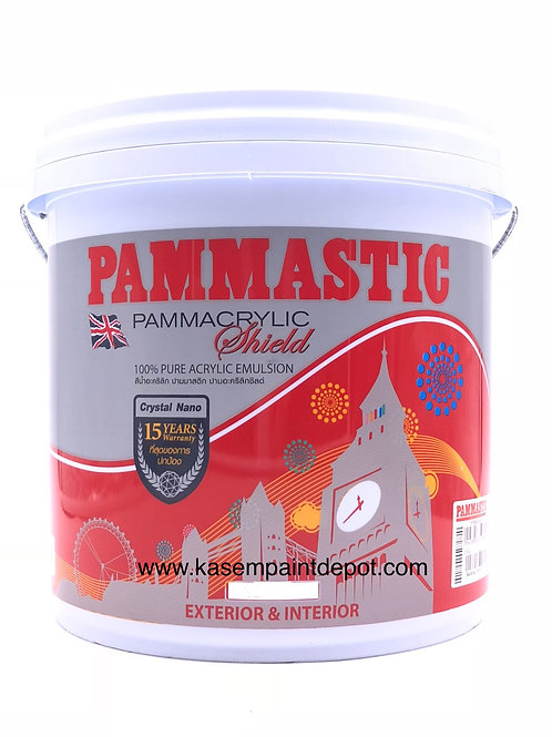 สีน้ำปามมาสติก ปามอะคริลิค ภายนอก เนียน Pammastic Pammacrylic Base A ถัง 9.46 ลิ