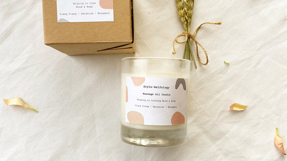 Soy Massage Oil Candle