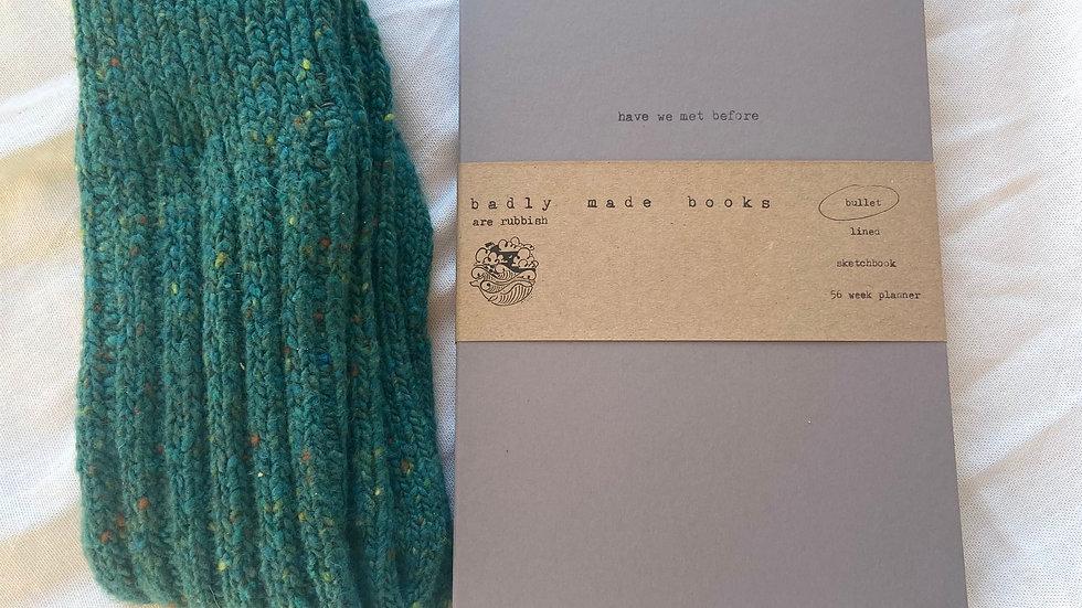 Irish Wool Socks & Notebook