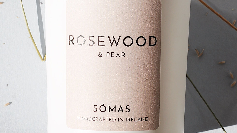 Rosewood & Pear -  Somas Large Scented Candle