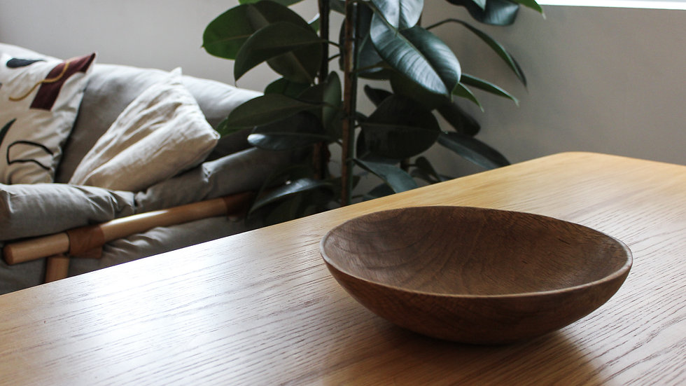 Raw label Handcrafted Wooden Bowl