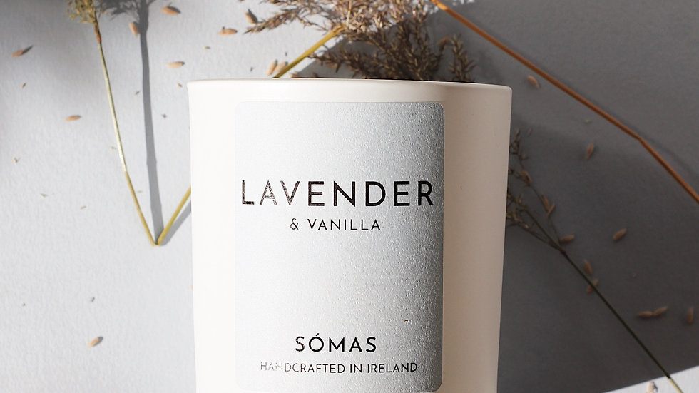 Lavender & Vanila Scented Soy Candle