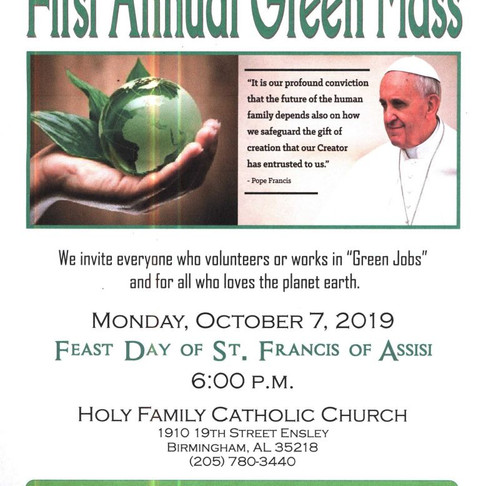 Help Us Celebrate Alabama's First Green Mass!