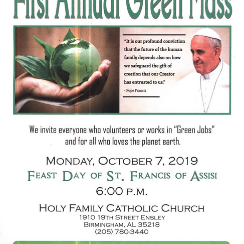 Help Us Celebrate Alabama's First Green Mass!