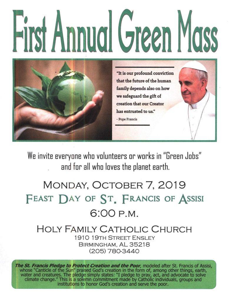 Green Mass Flyer PDF image