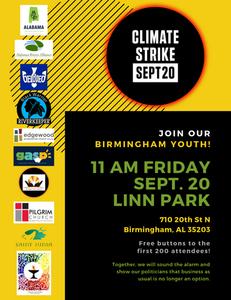 Birmingham Climate Strike Flyer