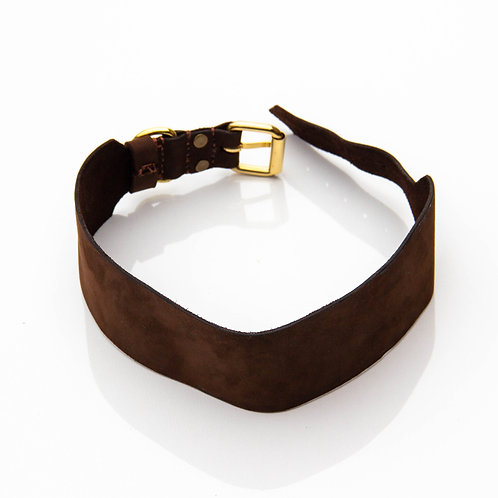 Personalized wide handmade collar from leather