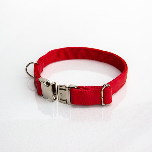 Red eco leather Collar