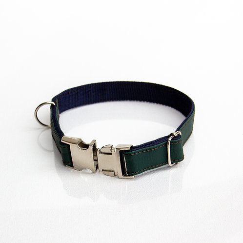 Green eco leather Collar
