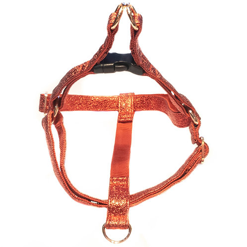 SPARKLY RED  handmade harness