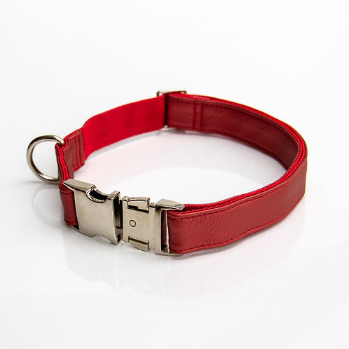Red pearl eco leather Collar