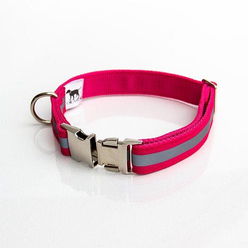 Pink Reflective Collar