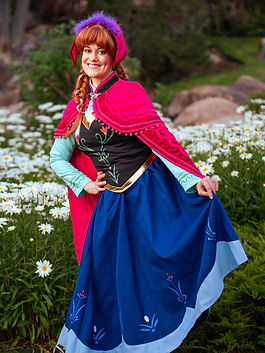 Princess Anna | Anna and Elsa | Frozen | Frozen Party Characters | Frozen Birthday Parties