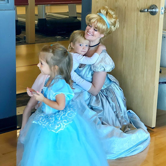 Cinderella Hugs at the Castle Rock Rec Center.jpg
